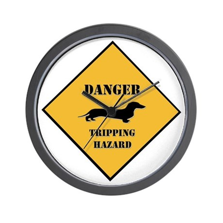 Tripping Hazard Wall Clock