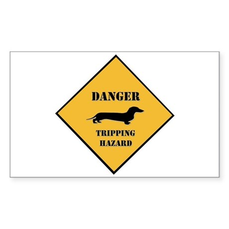 Tripping Hazard Rectangle Sticker