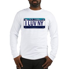 I Love New York Vanity Plate Long Sleeve T-Shirt