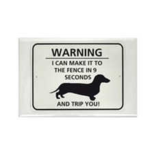 Warning Trip You Rectangle Magnet