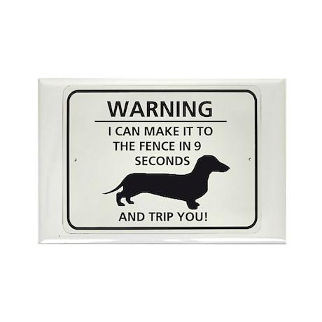 Warning Trip You Rectangle Magnet