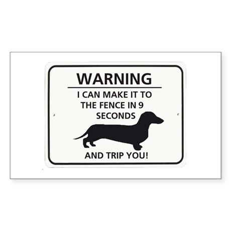 Warning Trip You Rectangle Sticker