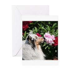 Sheltie Flower Greeting Card