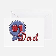 Blue Ribbon Dad Greeting Card