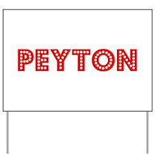 Retro Peyton (Red) Yard Sign