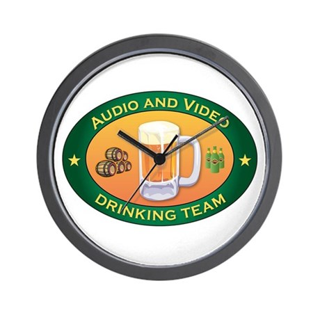 Audio and Video Team Wall Clock