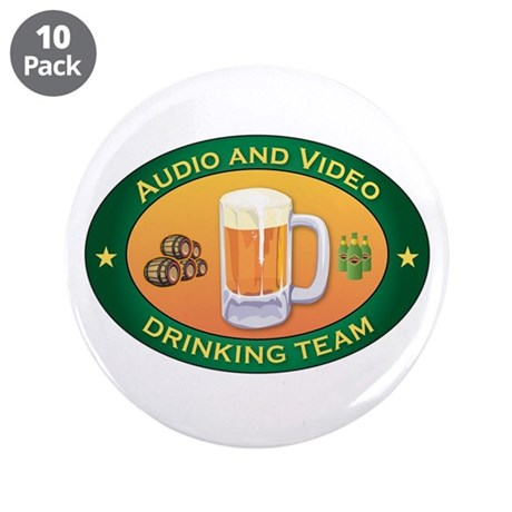 """Audio and Video Team 3.5"""" Button (10 pack)"""