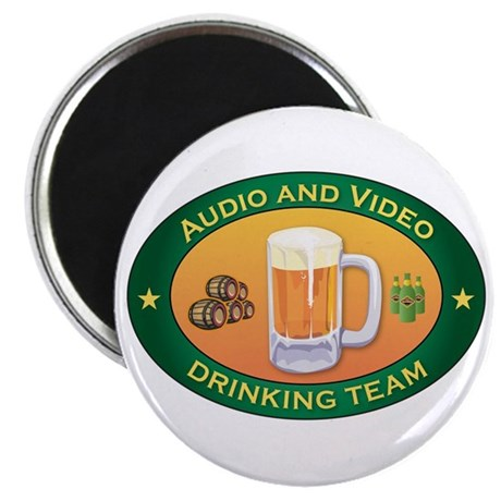 """Audio and Video Team 2.25"""" Magnet (10 pack)"""