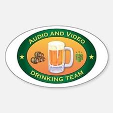 Audio and Video Team Oval Decal