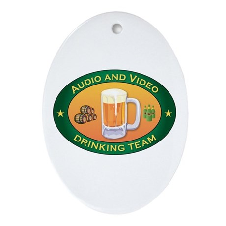 Audio and Video Team Oval Ornament