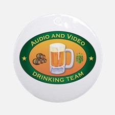 Audio and Video Team Ornament (Round)