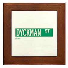 Dyckman Street in NY Framed Tile