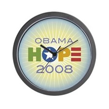 Obama Hope Circle Wall Clock