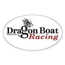 DragonBoat Racing Oval Stickers