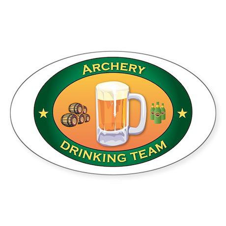 Archery Team Oval Sticker (10 pk)