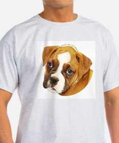 Boxer Puppy Ash Grey T-Shirt