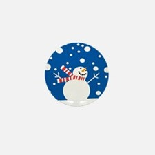 Holiday Snowman Mini Button