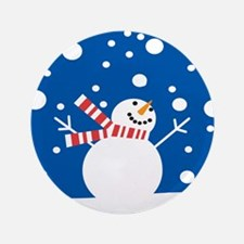 """Holiday Snowman 3.5"""" Button (100 pack)"""