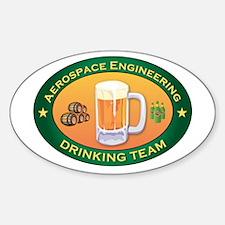 Aerospace Engineering Team Oval Decal