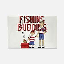 Fishing Buddies Rectangle Magnet