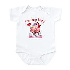 FEBRUARY BABY! (in stroller) Infant Bodysuit