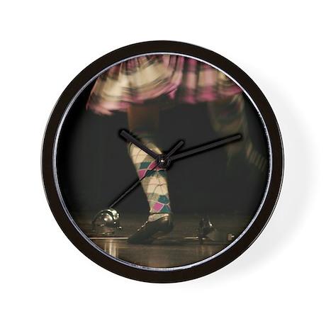 Highland Sword Dancer Wall Clock