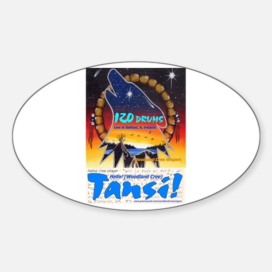 Tansi!/120 Drums CD: Oval Decal