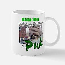 Ride the 'Silver Bullet' to Puk: Mug