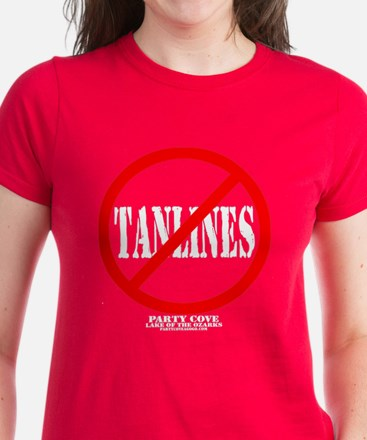 Party Cove-No Tanlines! Women's Dark T-Shirt