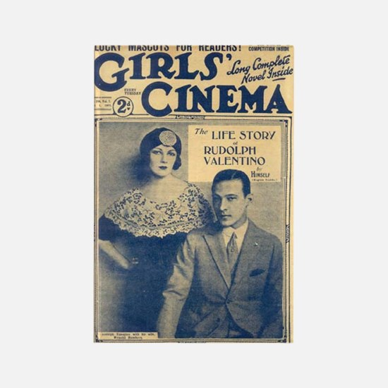 Rudolph Valentino with Mrs. Rectangle Magnet