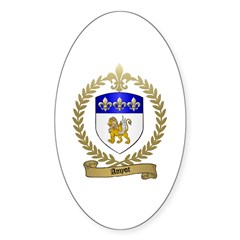 AMYOT Family Crest Oval Decal