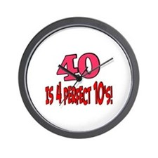 40 is 4 perfect 10s Wall Clock