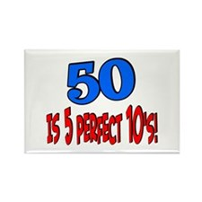 50 is 5 perfect 10s Rectangle Magnet
