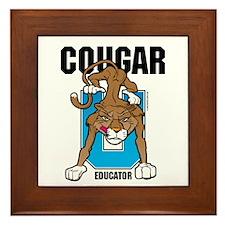 Cougar Educator Framed Tile