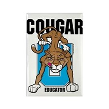 Cougar Educator Rectangle Magnet