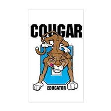 Cougar Educator Rectangle Decal