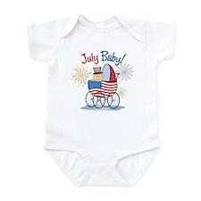 JULY BABY! (in stroller) Infant Bodysuit