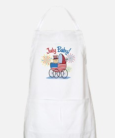 JULY BABY! (in stroller) BBQ Apron