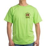 AUCLAIR Family Crest Green T-Shirt