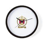 AUCLAIR Family Crest Wall Clock