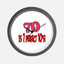 70 is 7 perfect 10's Wall Clock