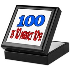 100 is 10 perfect 10 Keepsake Box