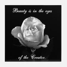 Beauty eyes Tile Coaster