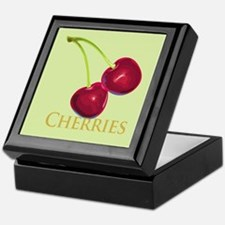 Cherries with Stems Keepsake Box