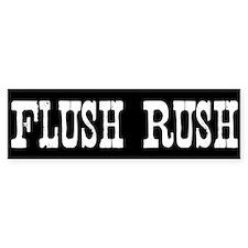 Flush Rush Bumper Car Sticker