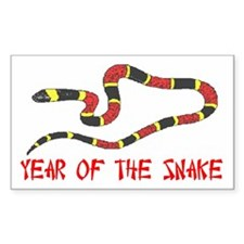 Year of the Snake Rectangle Decal