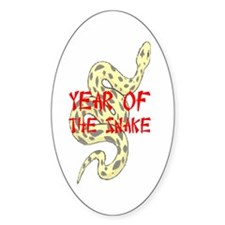 Year of the Snake Oval Decal