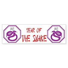 Year of the Snake Bumper Bumper Sticker
