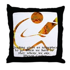 Reader - Golden Quote Throw Pillow