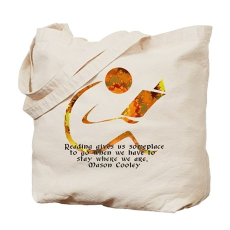 Reader - Golden Quote Tote Bag
